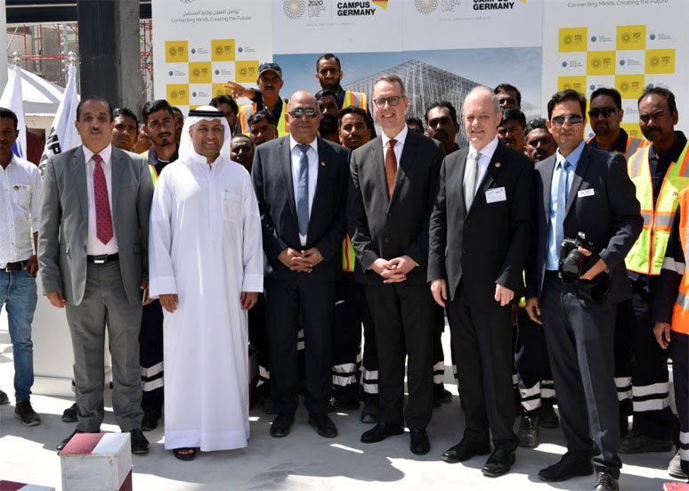 Topping-out Ceremony for German Pavilion at the EXPO 2020